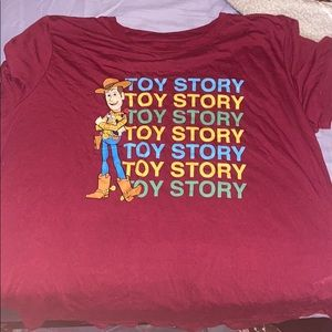 Maroon Toy Story shirt